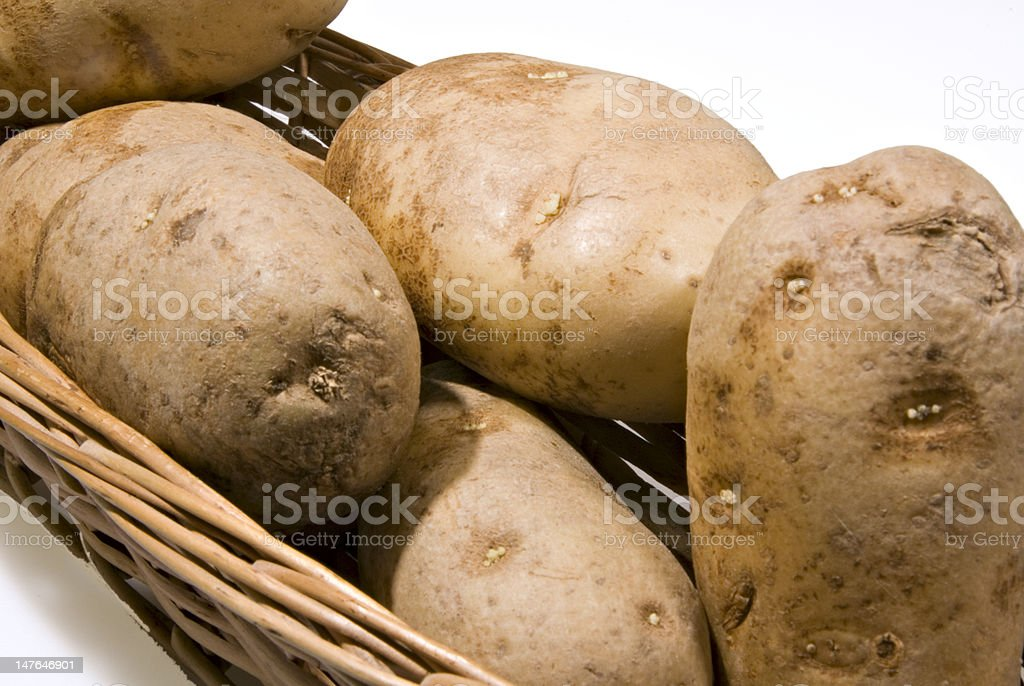 Potatoes in a Basket royalty-free stock photo