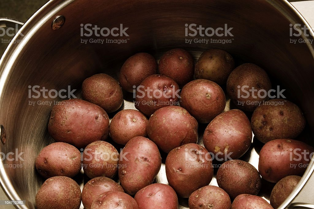 Potatoes in Pot royalty-free stock photo