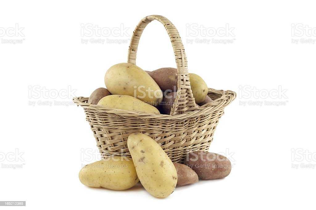 Potatoes in the basket royalty-free stock photo