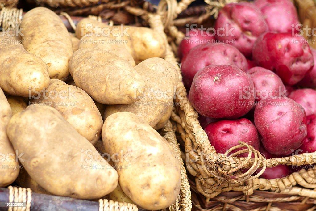 Potatoes Kept For Sale At the Market royalty-free stock photo