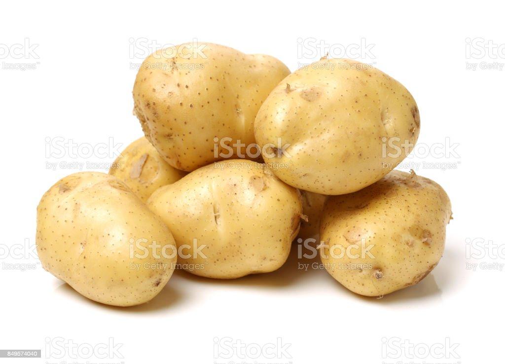 Batatas no fundo branco - foto de acervo
