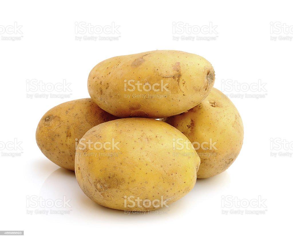 potatoes on white background royalty-free stock photo