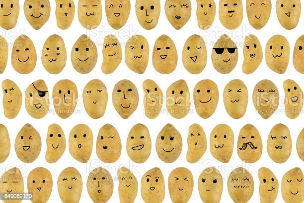 Potatoes pattern with cartoon face picture id849082170?b=1&k=6&m=849082170&s=612x612&h=wtx16iskxckyjicu8kr k4acxt4vemtzuh7rarux ue=