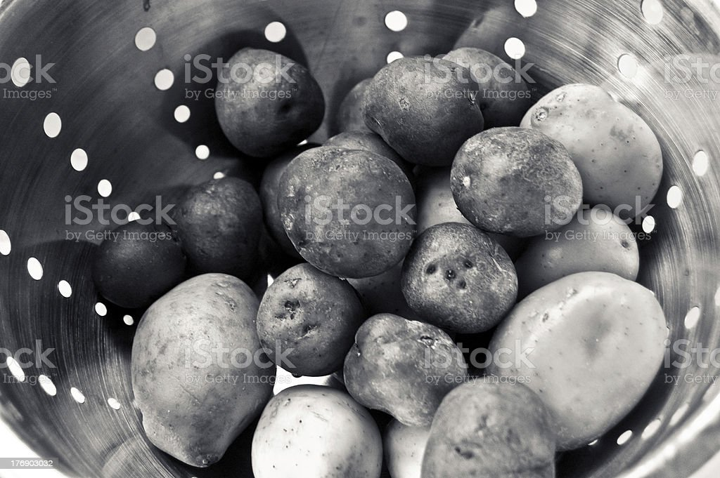 B&W Potatoes royalty-free stock photo