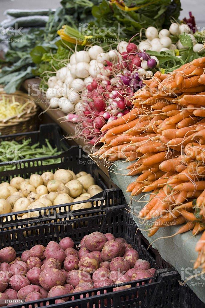 Potatoes, radishes and carrots royalty-free stock photo