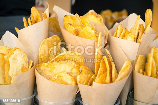 istock Potatoes served with cones 688458618