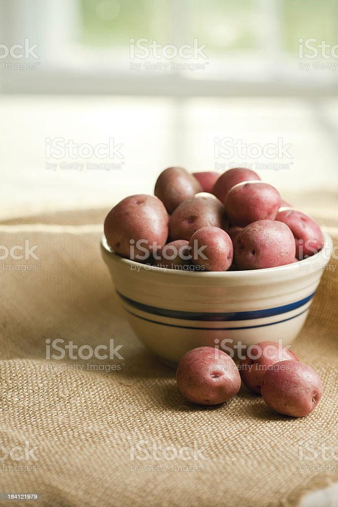 Potatoes with Copy Space royalty-free stock photo