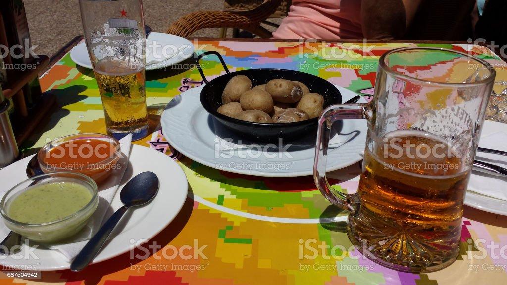 Potatoes with moho stock photo