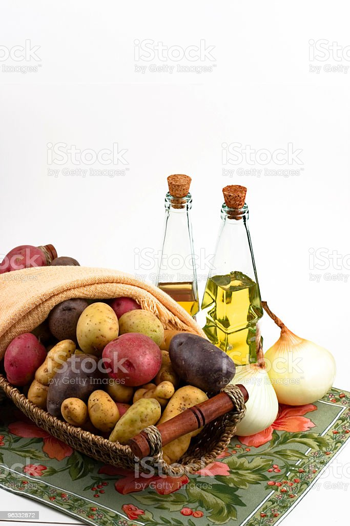 Potatos and Onions royalty-free stock photo
