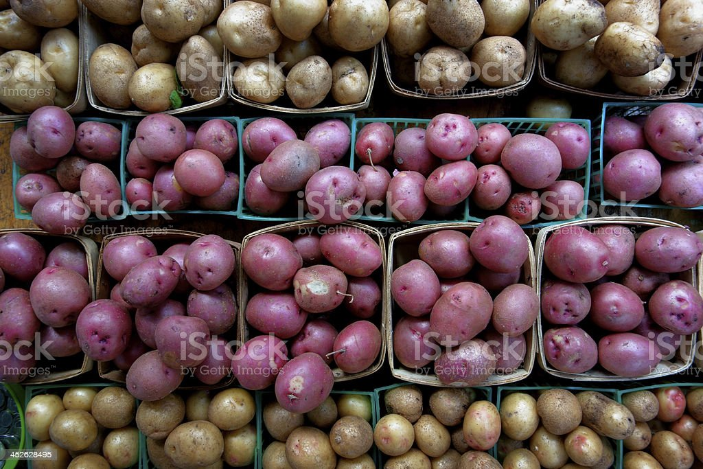 Potatos at Farmers Market royalty-free stock photo