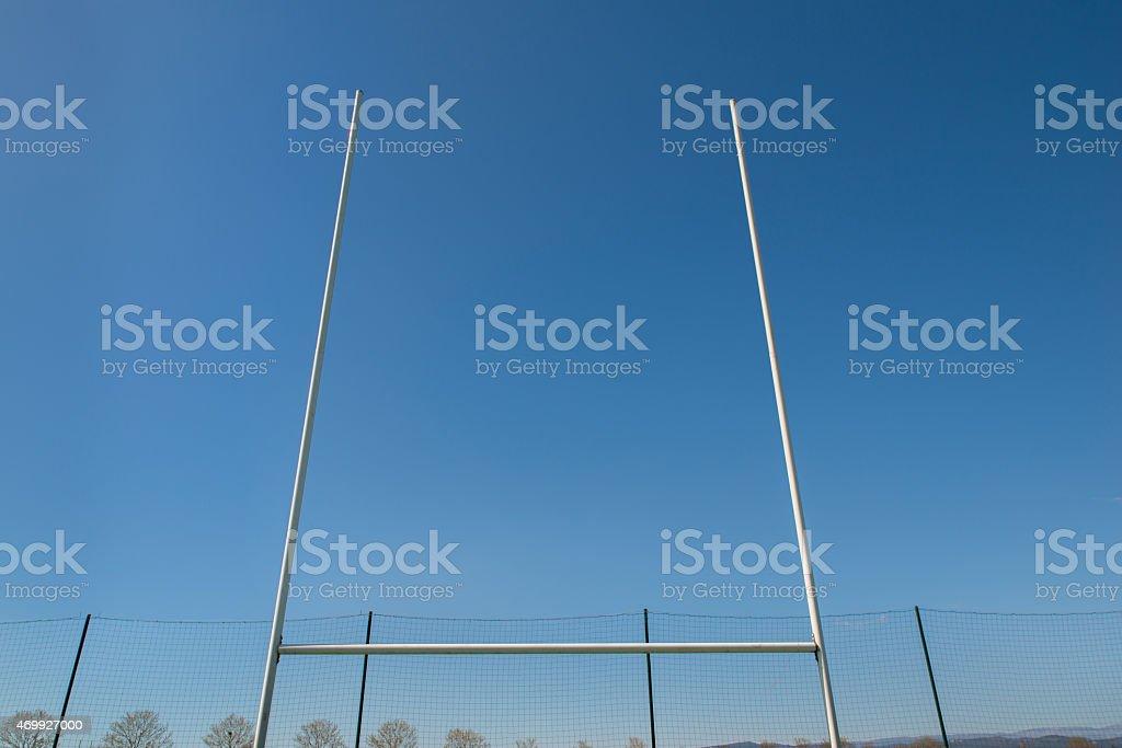 Poteau de rugby. stock photo