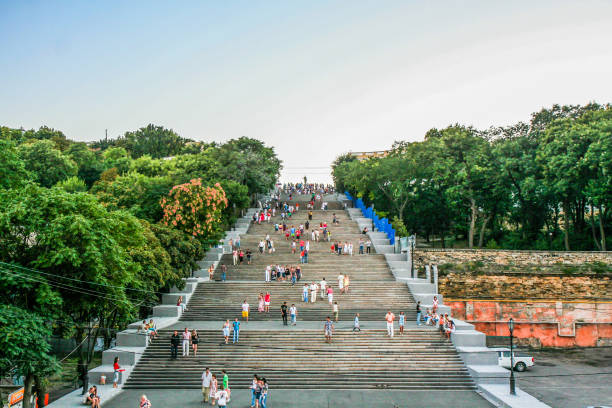 Potemkin Stairs, Odessa, Ukraine stock photo