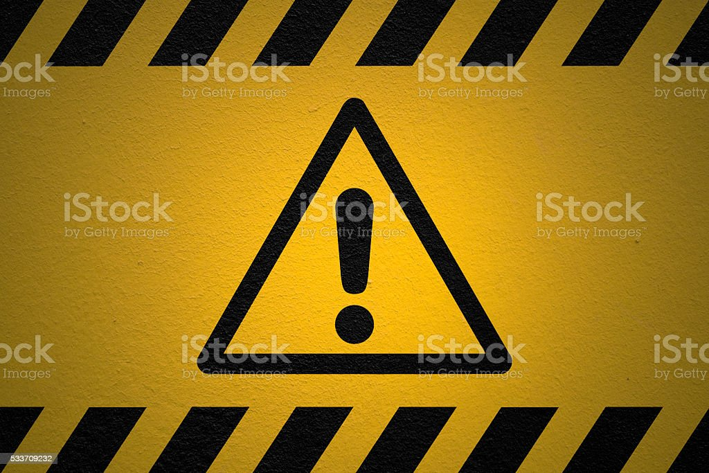 Potential Danger sign stock photo