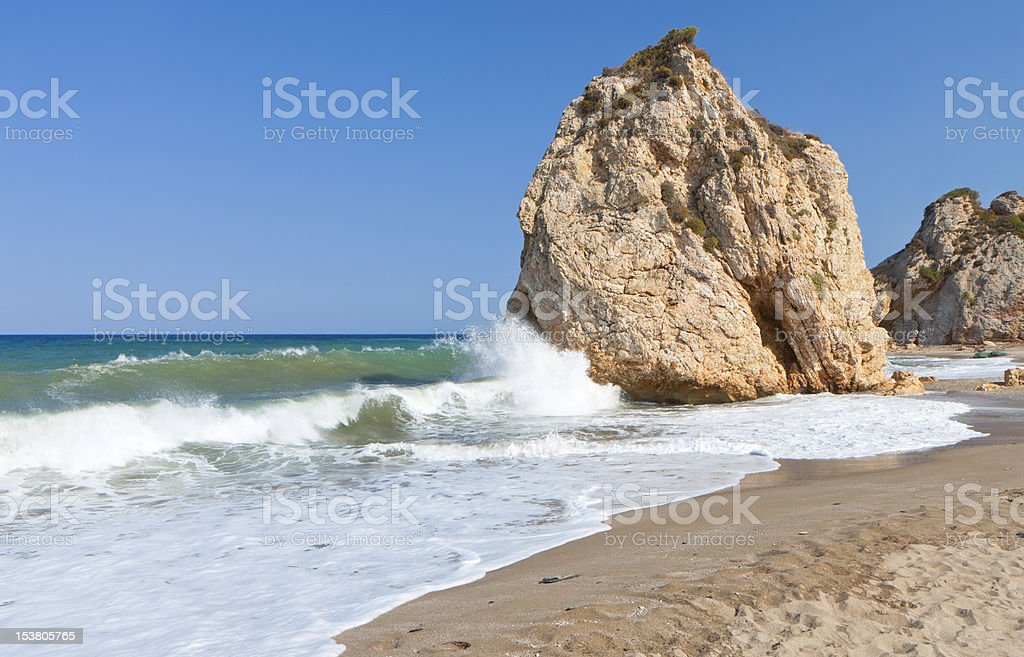 'Potistika' beach at Pelion in Greece stock photo