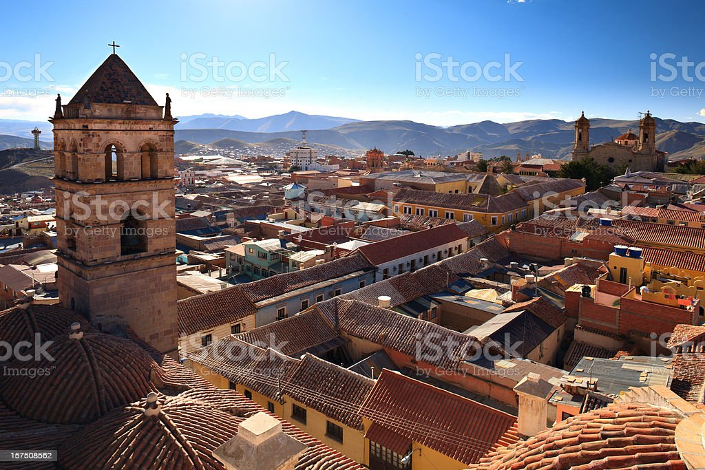 Potosi, Bolivia Rooftops royalty-free stock photo