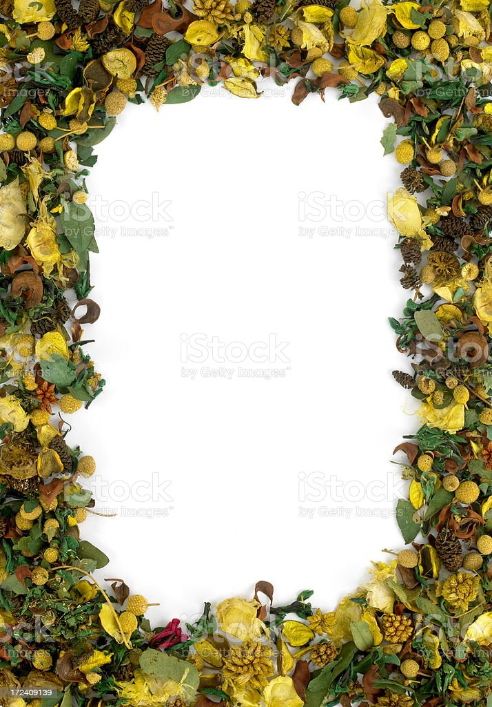 potpourri frame stock photo