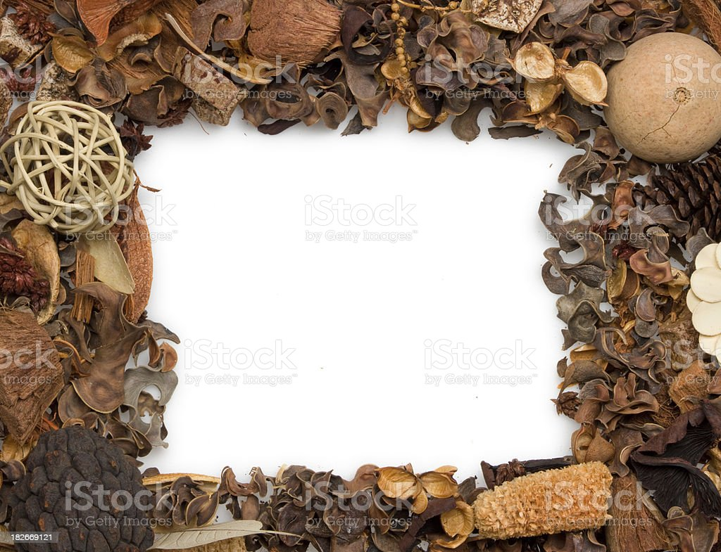potpourri picture frame royalty-free stock photo