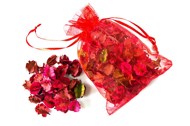 potpourri sachet isolated on a white background stock photo