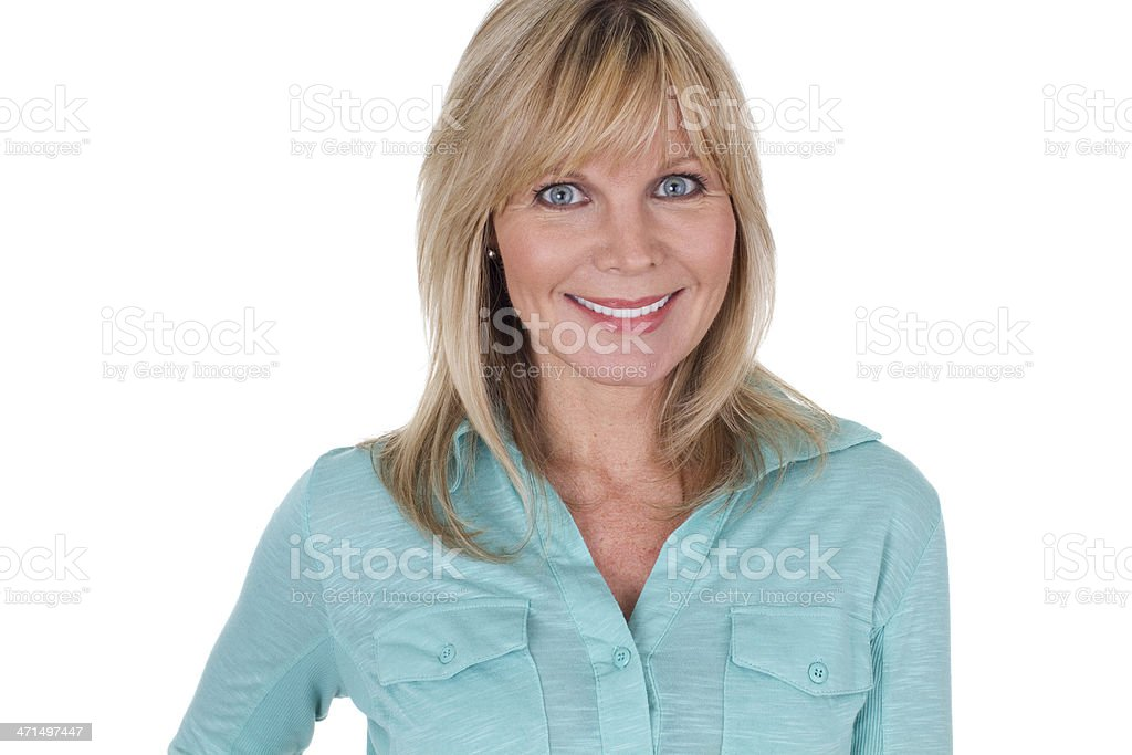 potrait of a mature woman royalty-free stock photo