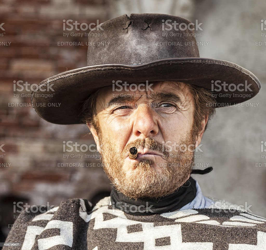 Potrait of a Mercenary stock photo