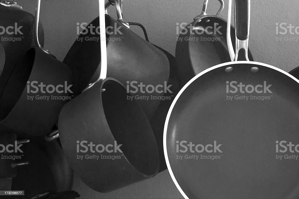 Pots and Pans royalty-free stock photo