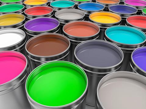 3D Pots of Paint of Paint