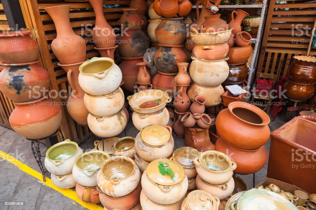 Pots Vases Bowls And Rustic Clay Vases Stock Photo More Pictures