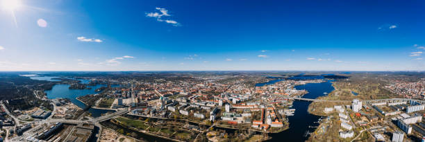 Potsdam, Brandenburg, Germany, 04.04.2020 aerial cityscape drone photo stock photo
