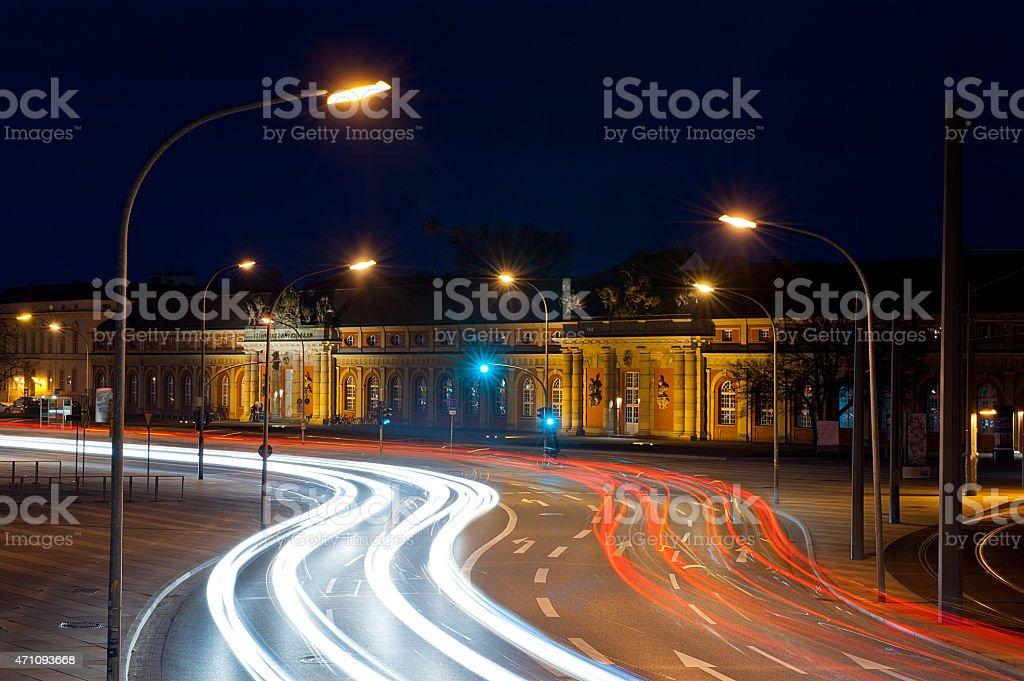 Potsdam city by night stock photo