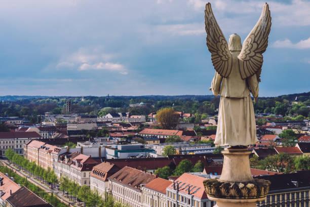 포츠담 도시 스카이 라인 전경 - 브란덴부르크 주 뉴스 사진 이미지