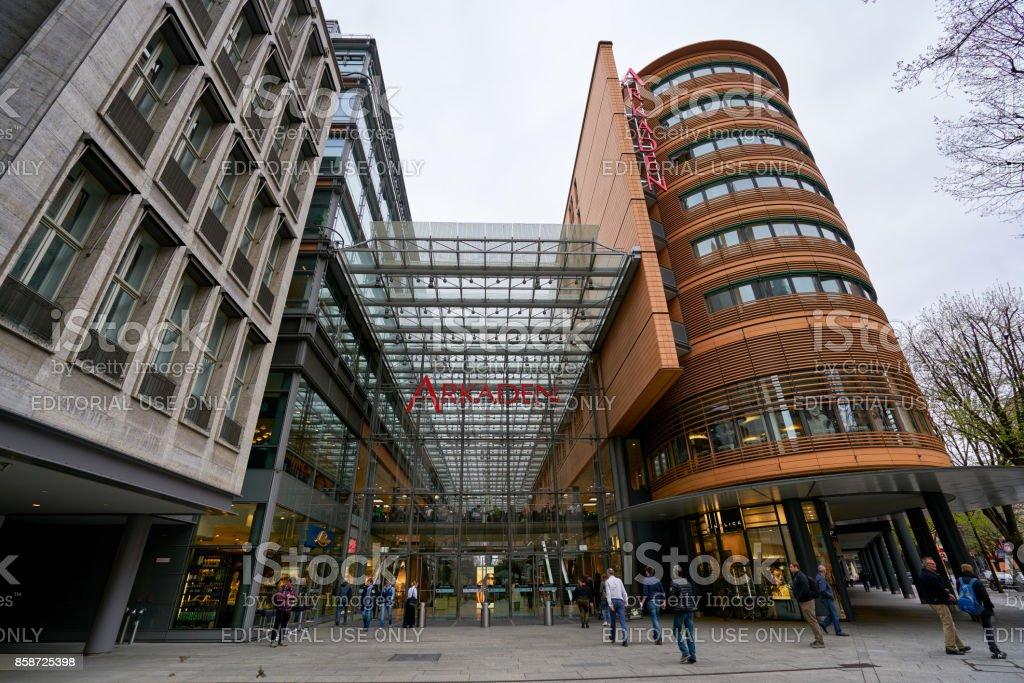 Potsdamer Platz Arkaden Shopping Mall In Berlin Stock Photo