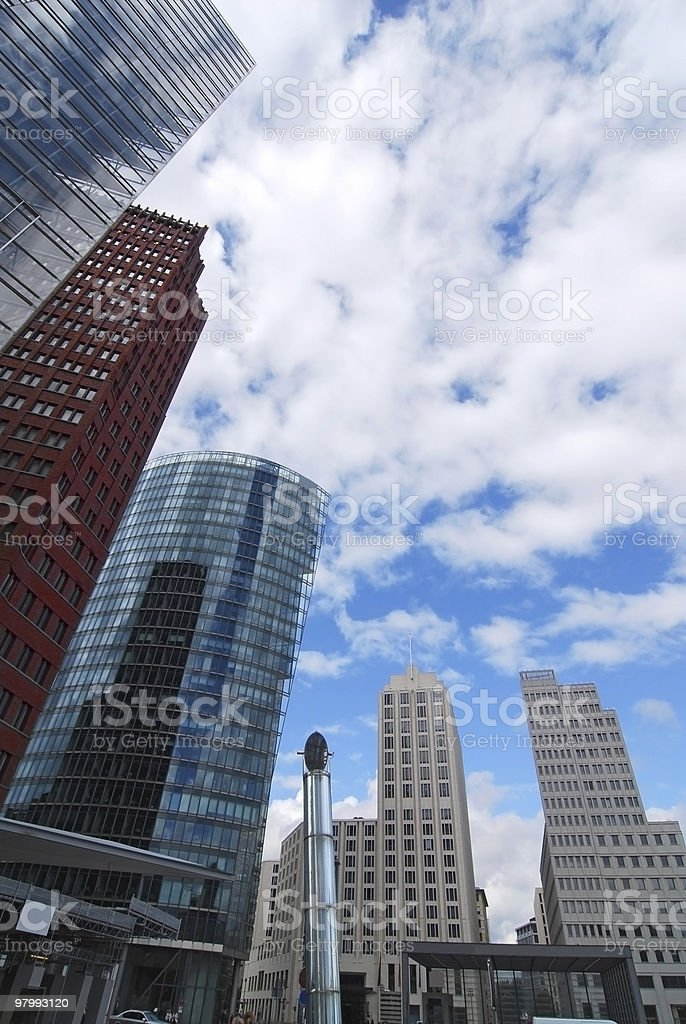 potsdamer platz in berlin royalty-free stock photo
