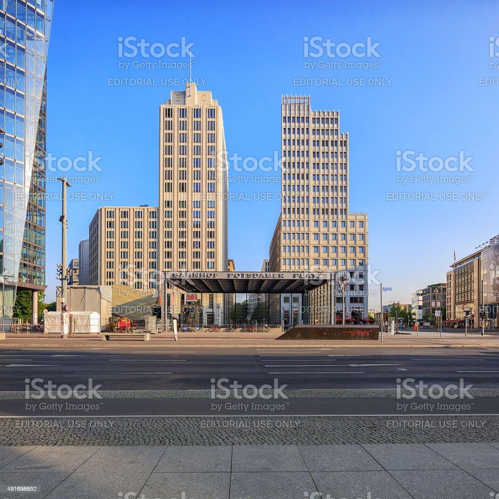 Berlin, Germany, - August 29, 2015: Potsdamer platz stock photo