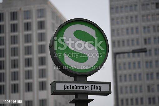 1166703050 istock photo Potsdamer Platz S-Bahn station sign, Berlin, Germany 1226416156