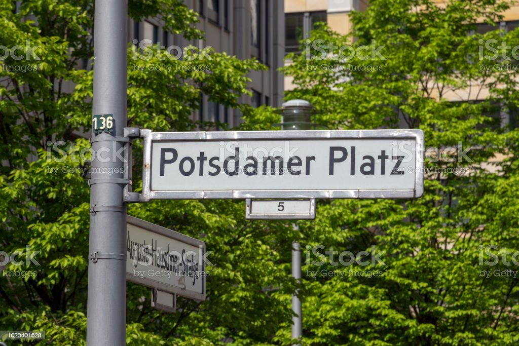 Potsdamer Platz Straße sig – Foto