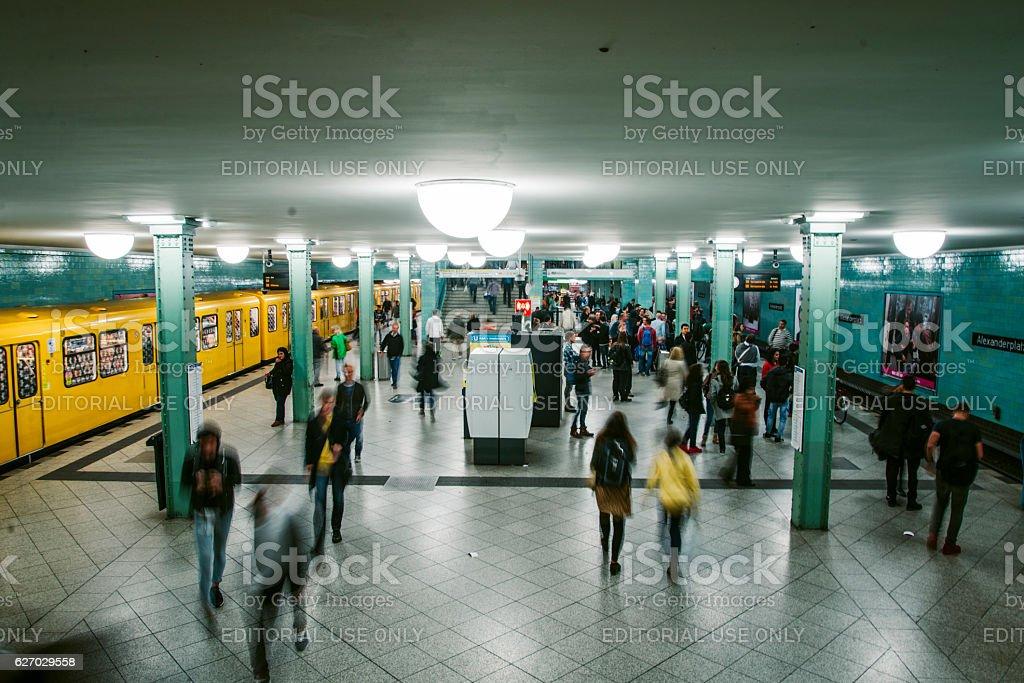 Potsdamer Platz - U Bahn station stock photo