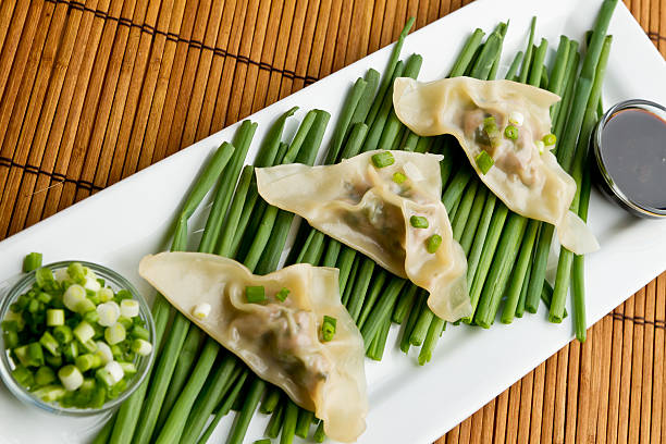 Potstickers stock photo