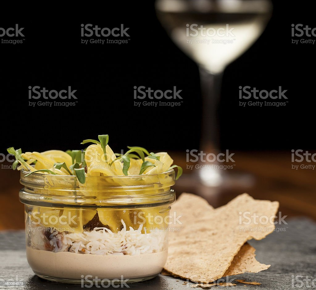 Potted Crab stock photo