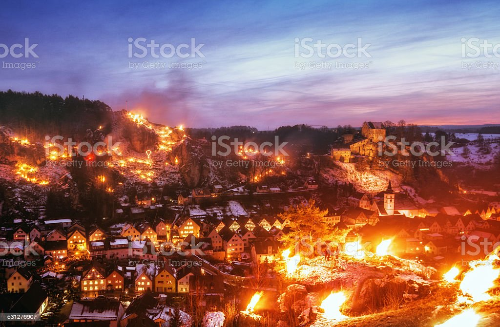 Pottenstein Lichterfest (light festival) stock photo
