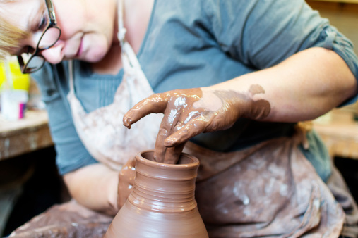 Potter At Work Stock Photo - Download Image Now