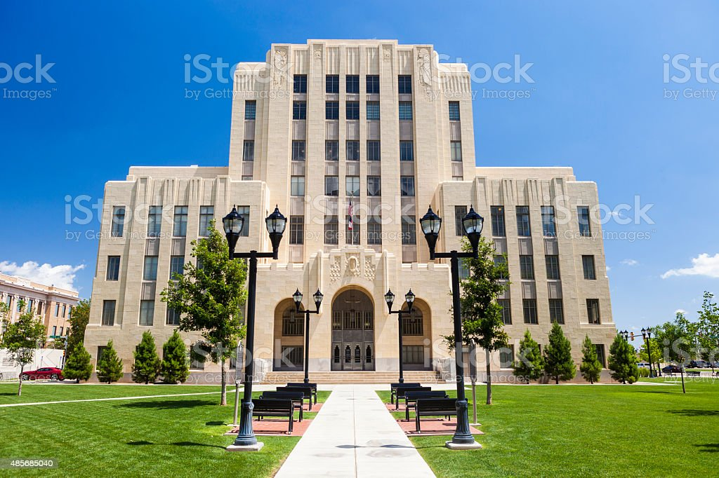 Potter County Courthouse In Amarillo, Texas stock photo
