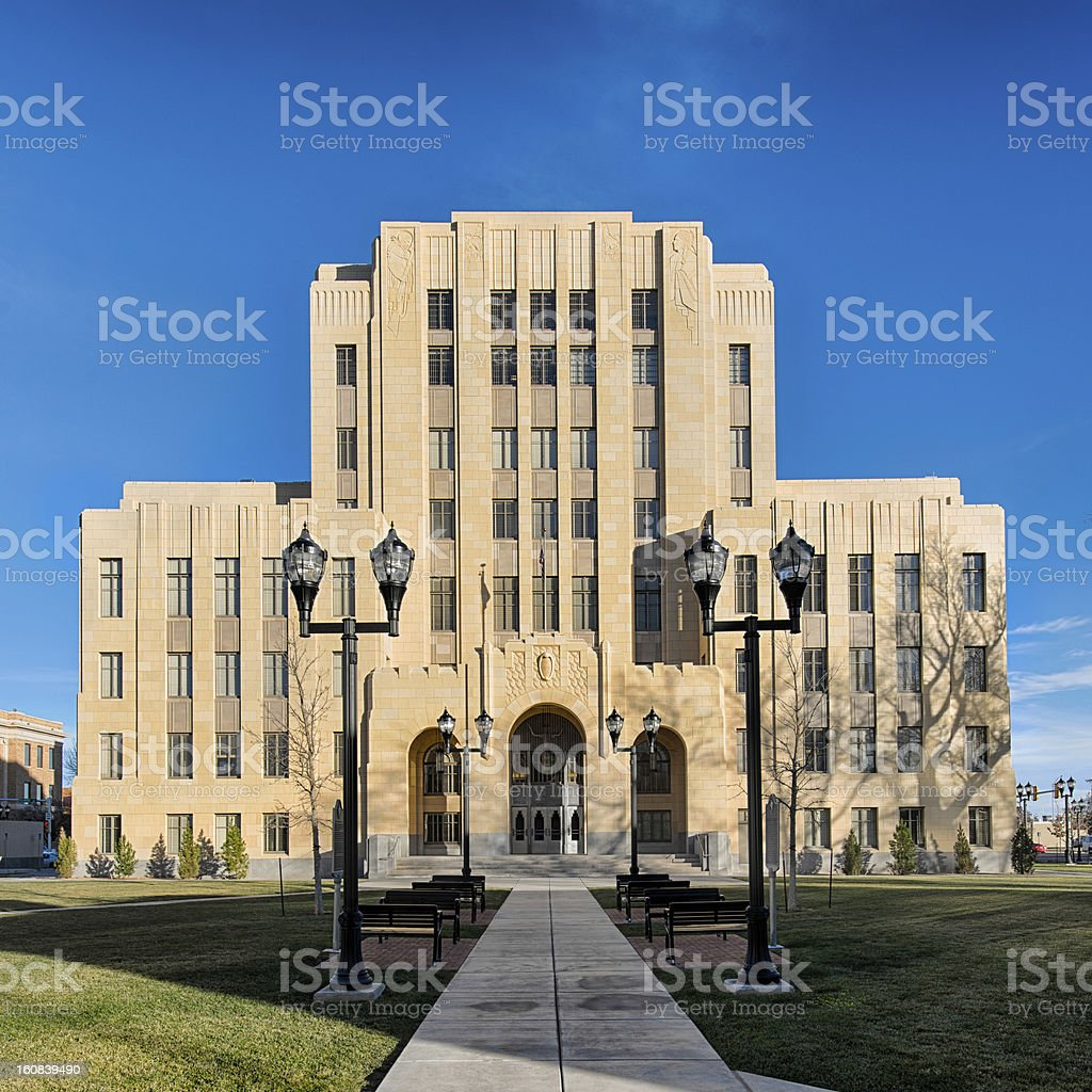 Potter County Courthouse stock photo