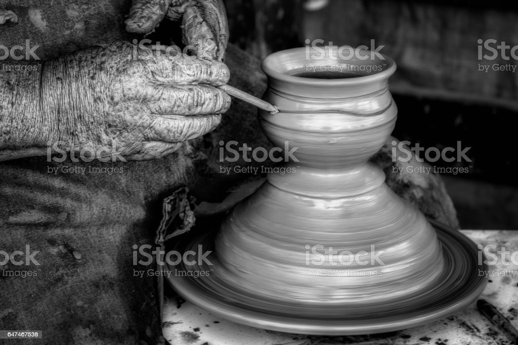 Potter (B&W) stock photo