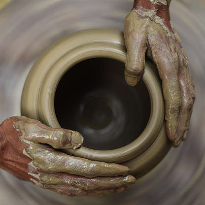 Potters Hands Stock Photo - Download Image Now