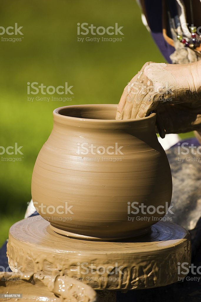Potters hands royalty-free stock photo