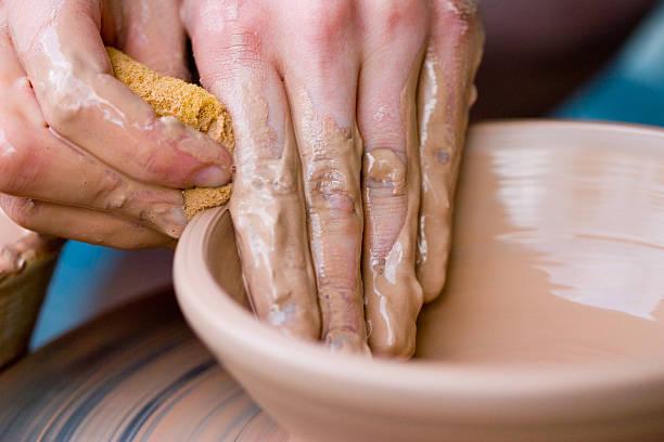 pottery 2 stock photo