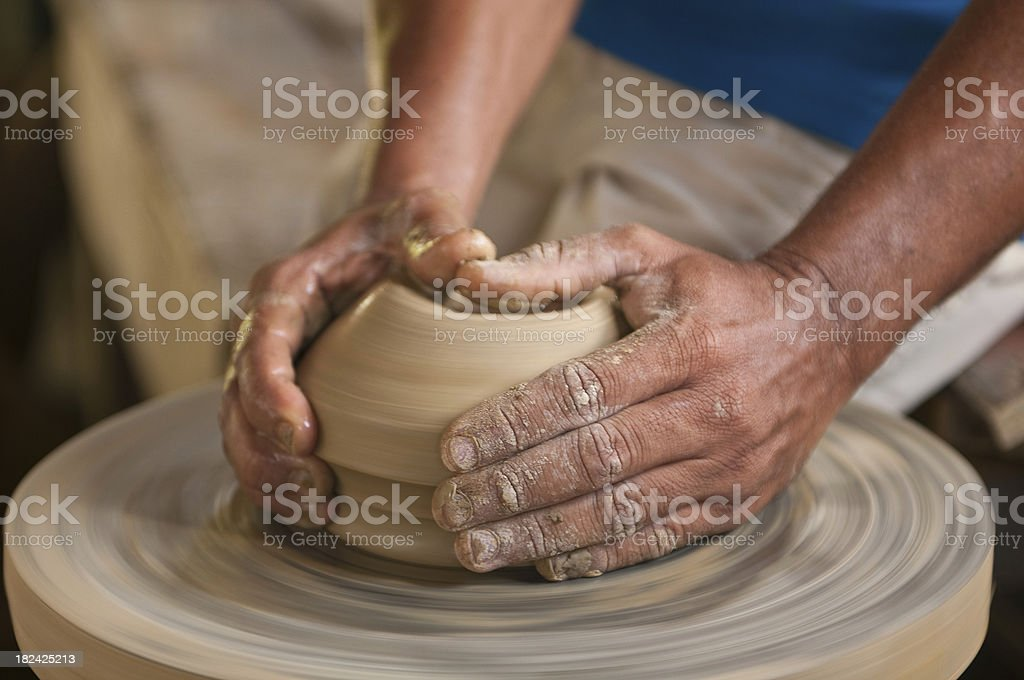 Pottery artist stock photo