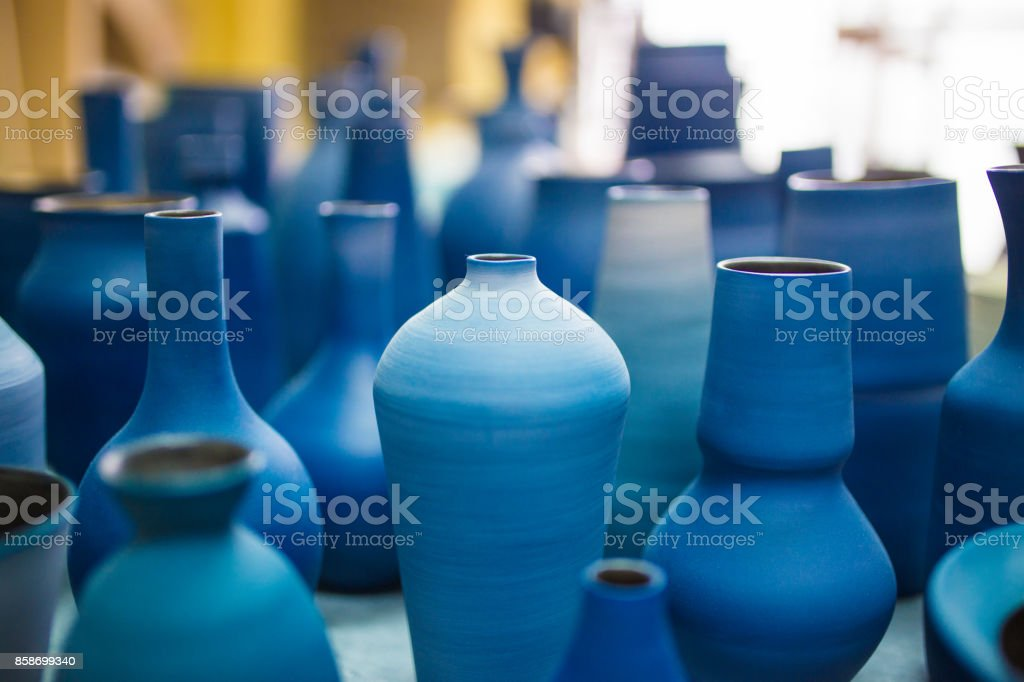 Pottery at Okinawa stock photo