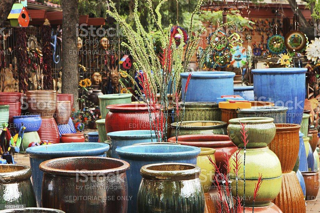 Pottery Boutique Garden Center Store Merchandise royalty-free stock photo