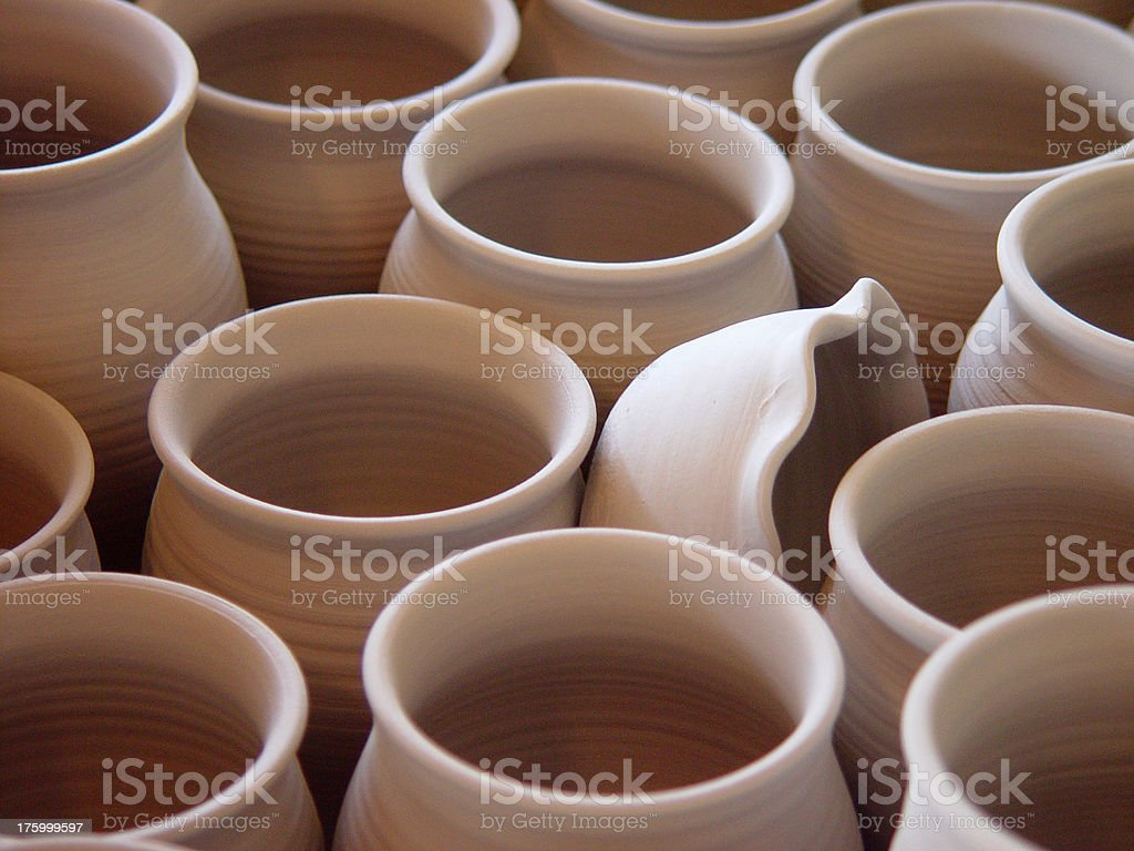 Pottery Drying stock photo